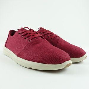 TOMS Men Henna Red Burlap Delrey Sneakers R11S7